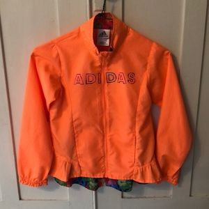 Girls adidas rain jacket 6x